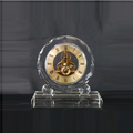 Modern handmade crystal stand clock for business souvenir gift