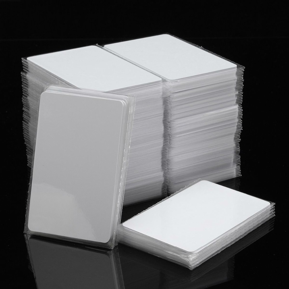 2018 Trending Product CR80 Size Contactless Blank RFID TK4100 Cards for printing