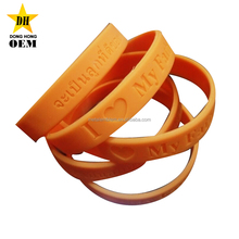 Thailand souvenir cheap I love my father rubber silicone Thai Emperor bracelets