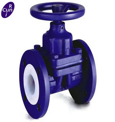 Cast Iron Body Flanged Lined or Unlined Rubber Weir Diaphragm Valve with Handwheel