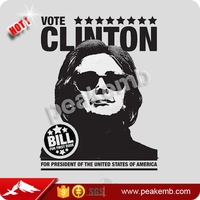 2016 Popular Heat Transfer Hillary Silk Screen Printing for Shirts
