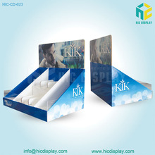 2017 HIC CMYK Printing PDQ Cardboard Corrugated DVD CD Display Box Carton