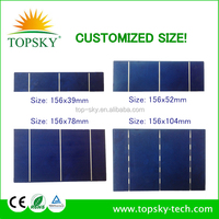 Customized size 156x39MM 0.5V PV solar cell with cheap price.Make any size you need