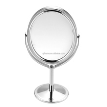 Women Beauty MakeUp Mirror Dual Side Normal+Magnifying Oval Stand Compact Mirror Cosmetic Mirror Makeup Tools 3 inch