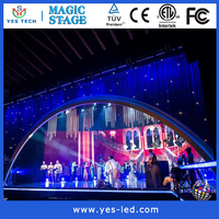 rental smd led video curtain