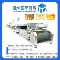 2016 Hot sale--HYQ-800 Swiss Roll Machine Automatic Swiss production line,food machine manufacture