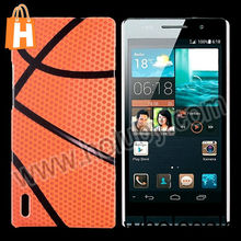 Cheap Basketball Pattern Glossy Ultraslim Back Cover Hard PC Case Cover for HuaWei Ascend P7
