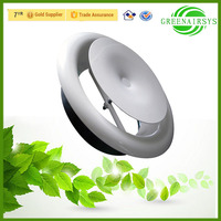 Air Condition Parts Adjustable Circular Ceiling Mounted Design Heat Vents Diffuser