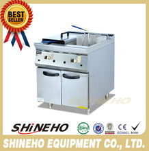 W061 64L Free Standing 2 Baskets Gas Deep Fryer With Cabinet