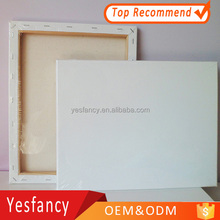 hottest 100% cotton stretched canvas wooden frame blank canvas