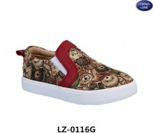 Hot sale!!! Bear style unisex slip on shoes/child casual shoes/kids shoes