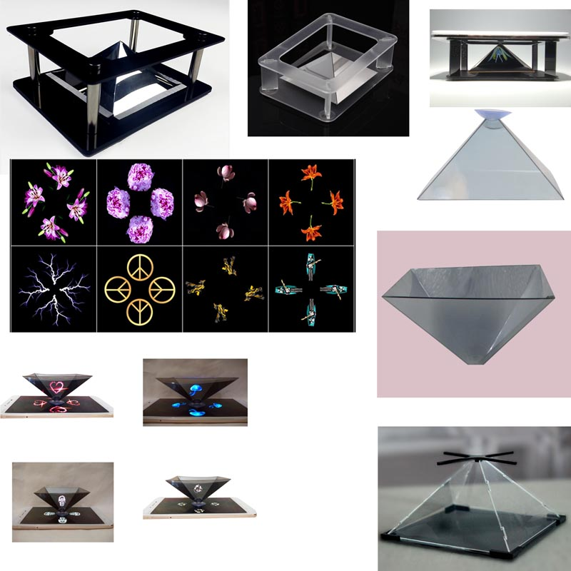 Holographic Advertising Display,3D Holographic Pyramid Projector