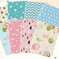 Baby Changing Grip Pad Liners Reversible: Soft Bamboo Terry Cloth or Waterproof TPU Large Reusable Diaper