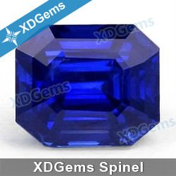 OTC emerald cut synthetic spinal stone