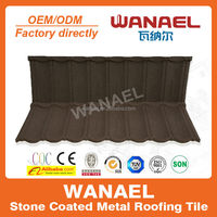 Bond Wanael thermal insulation stone coated metal roof tile for home/villa house plans