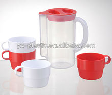 drinkware plastic pitcher set,Water Pots with 4 Cups