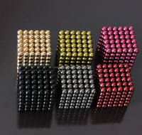 216pcs Colorful Permanent NdFeB rare earth magnet ball magnetic toy for kids