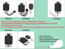 Hot sale motorcycle gps tracker waterproof IP66 gps303G specially in Colombia, Chile ,venezuela,TT