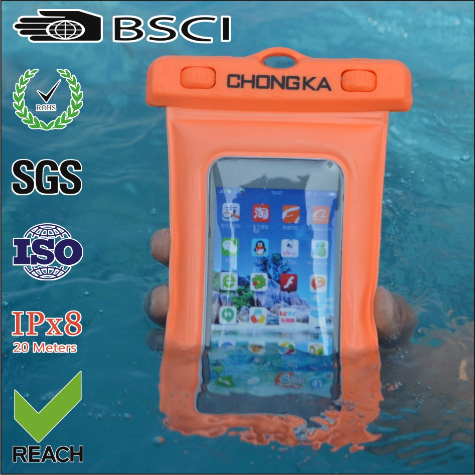 Promotional gift Waterproof Case Pouch Snow Proof Sand Proof Phone bag