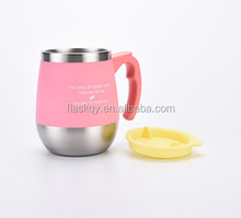 custom coffee mug stainless steel with square handle