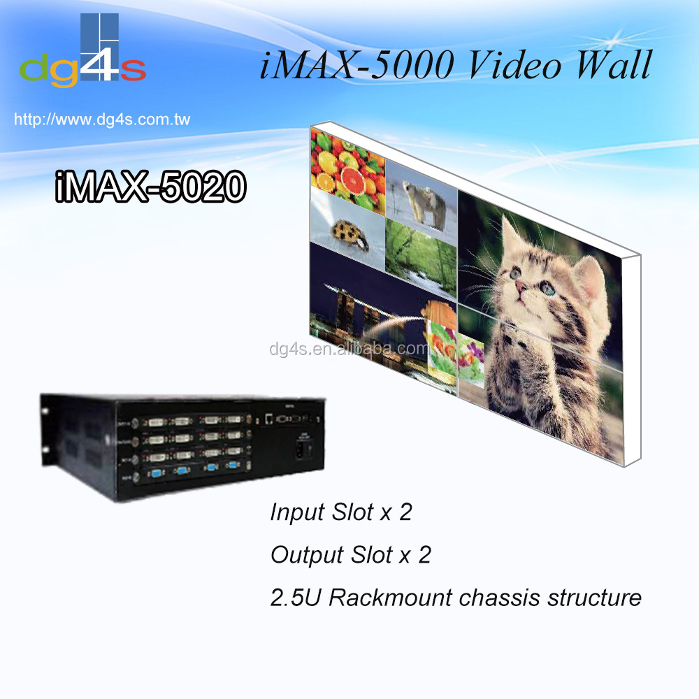 iMAX-5020 8 x 8 / 8 x 4 Seamless Switch Matrix Video Wall Controller