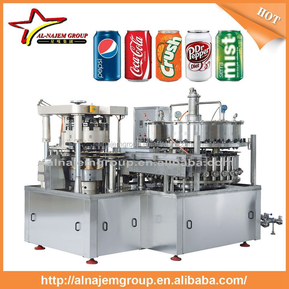 3 in 1 Carbonated beverage machine/Fanta, 7-up filling machine