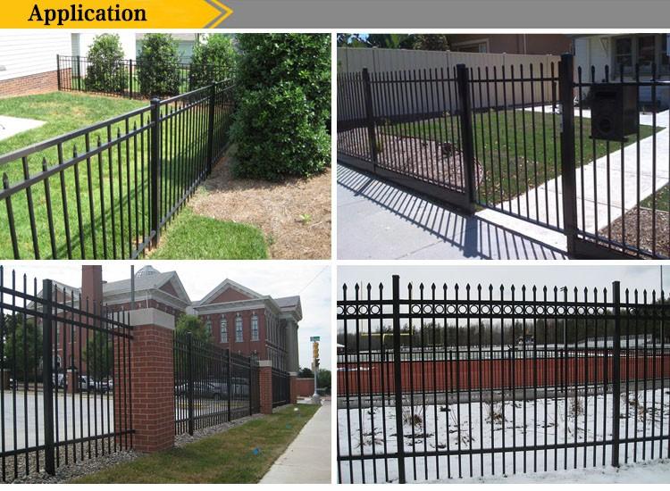 Powder coated galvanized backyard metal fence picket