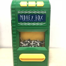 tin can coin with lock atm system bank