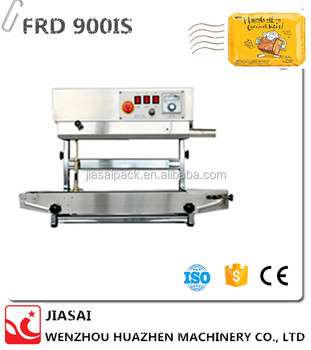 FRD900 2015 good quality stainless steel body continuous band sealer sealing machine