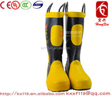 Factory direct sale 2015 New Design steel toe Slip resistant Structural fire fighting protection Boots