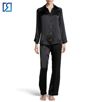 Wholesale Factory Price Womens Satin Pure Silk Pajamas