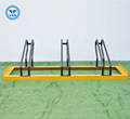 Amazon hot-selling 3 bike stands high and low galvanized floor stand
