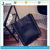 wholesale shoulder large zipper pu tote bag for woman