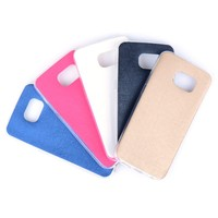 TPU+PU cover for Samsung S6 edge slim soft case
