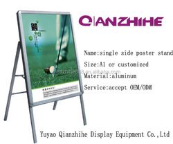 China supplier of single side stand, alone standing sign board