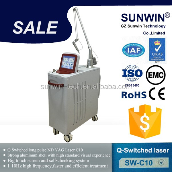 imported laser q switch 1064 nd yag 532 tattoo removal for spa beauty