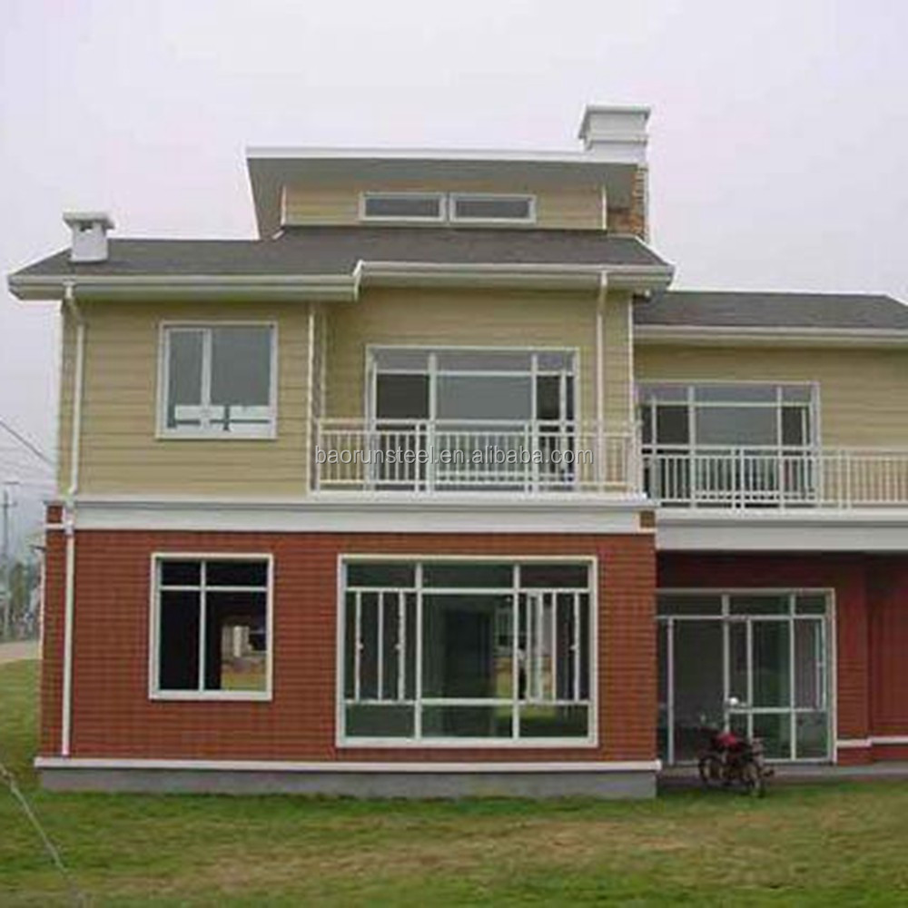 prefabricated steel frame villa,simple small villa plans,new design of villa house