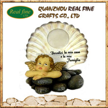 custom handmade resin little angels figurines models for home decoration
