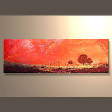 Newest Handmade Beautiful Scenery Oil Painting On Canvas