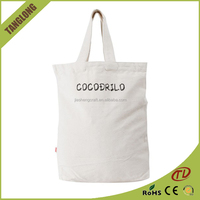 Eco friendly reusable white canvas shopping bag, canvas shopping bag blank