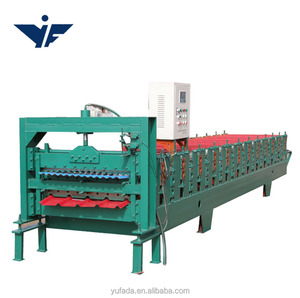 Portable metal roofing automatic double layer roll forming machine