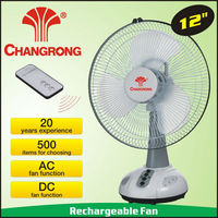 12 inch small rechargeable emergency best selling table fan with light