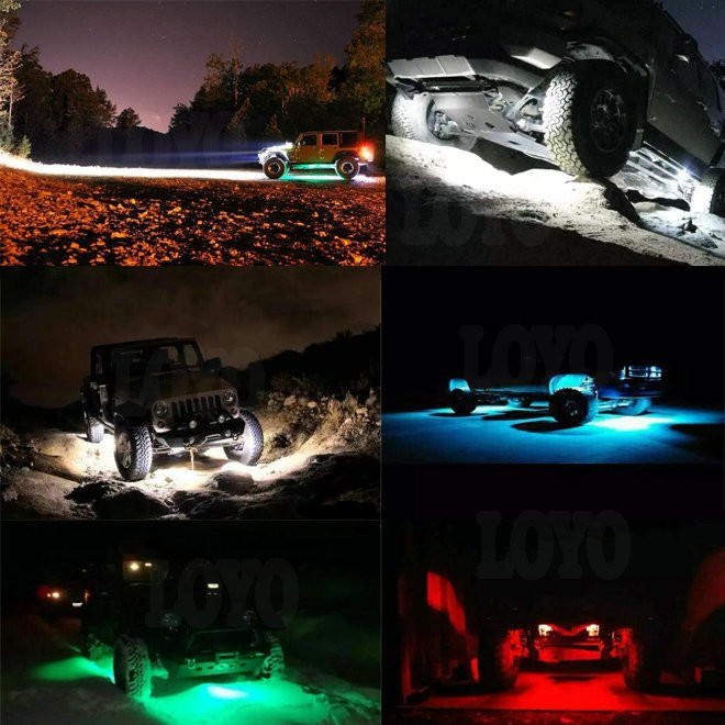 "DOT Genehmigt IP68 2 ""9 Watt RGB mini LED rock licht, 2 zoll Led Schwanz Lichtkuppel, RGB led rock licht"