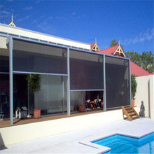 Oversize Electric Transparent PVC Outdoor Roller Blinds could do 5 m