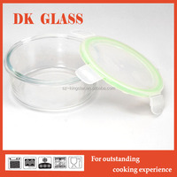 Microwave Oven Safe Pyrex Glass Food Storage Container For Kids Food Warmer Lunch Box With Lock