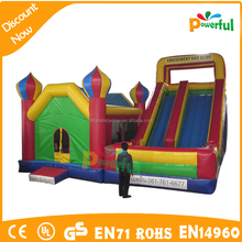 inflatable bouncer with slide and obstacles/inflatable bouncer combo