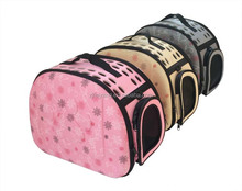 Factory fashion soft side travel fold pet dog, cat carrier pet bag with paw design