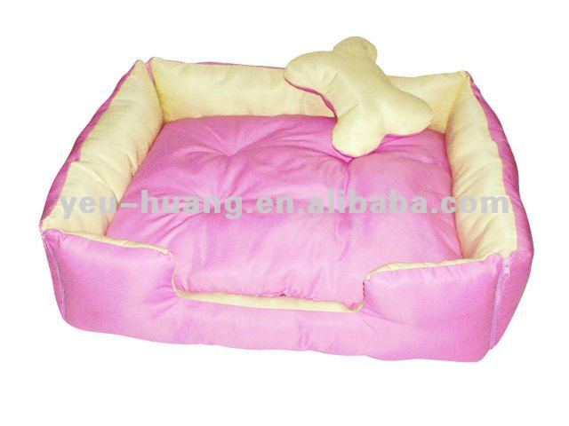Luxury pink pet dog bed