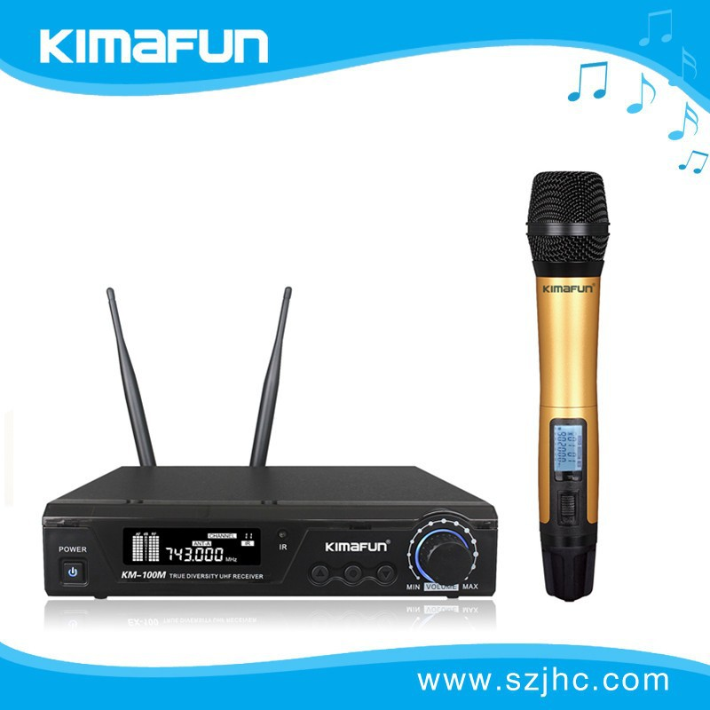 Hot!!!True Diversity wireless microphone uhf KM-100 KM-3