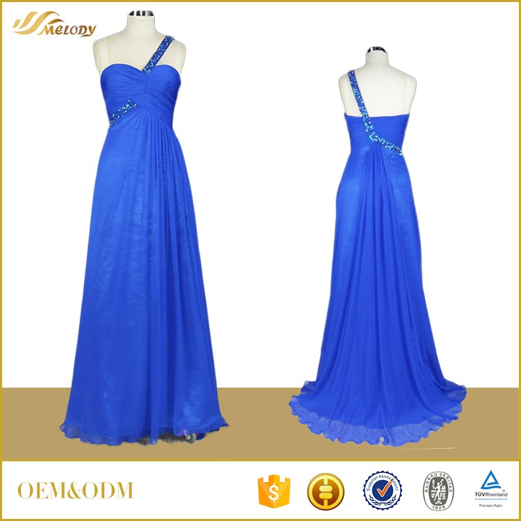 Royalblue Princess Evening Dress